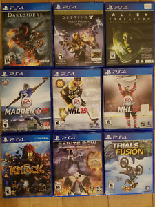 PS4 Games, $10-15 each