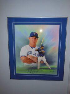 Brett Lawrie Signed Canvas Framed London Ontario image 1