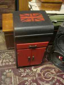 record cabinet  painted with union jack top