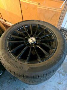 Rims and Continental Tires Volkswagen 5x112