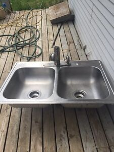 Kitchen sink and faucet