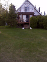 looking to trade my waterfront home with any home.or rv.+money.