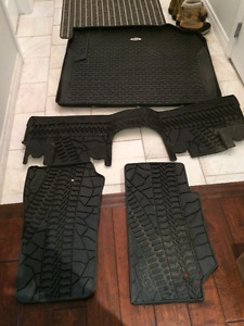 jeep wrangler unlimited mud mats