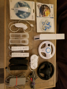 Wii system, 2 games -SOLD