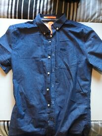 Superdry blue shirt size medium