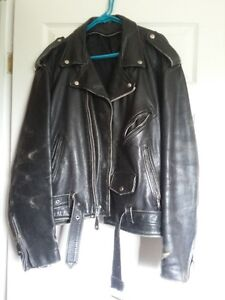 Size 50 Men's Old School LEather Riding Jacket