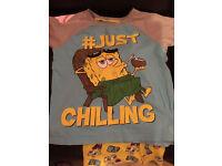 Spongebob pjs aged 9-10