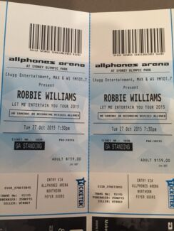 Robbie Williams Tickets Nicholls Gungahlin Area Preview