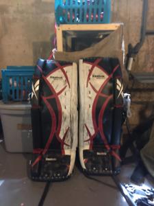 "Reebok 31""+1 Ice Hockey Goalie Pads"