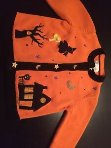 Girls Beautiful Halloween Sweater Sz 5/6