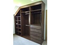 Walk-in wardrobes supplied and fitted throughout London.