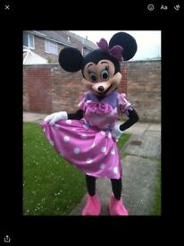 Mascot pink Minnie Mouse