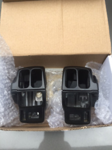 Harley Touring Switch Covers - Black