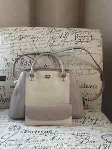 Coach Small Margot Carryall in two toned leather