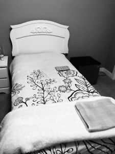 Twin Bed with headboard, Box Spring & Mattress