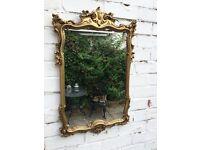 Gold ornate mirror antique mirror vintage mirror