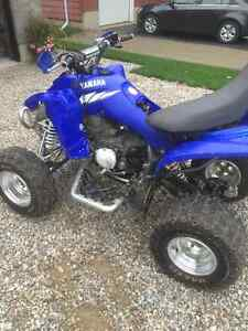 2005 Yamaha 350 Raptor will trade looking for a 4x4 quad London Ontario image 4
