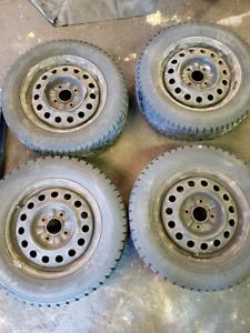 195\65R15 Winter Tires - 4 bolt