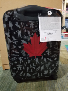 Atlantic Red Leaf Expandable Upright Spinner Luggage Suitcase