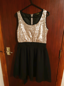 Black And Gold Dress Dorothy Perkins Size 8