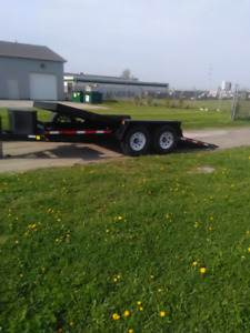 Tilt and load equipment trailer 18' $6000