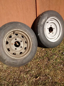 Trailer wheels and tires 4.80 x 12 Carlisle Tires
