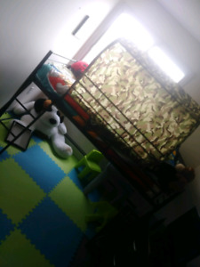 Boys army style one person bunkbed