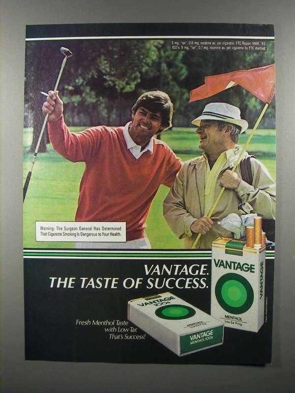 1981 Vantage Menthol Cigarette Ad - Taste of Success