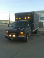 2003 GMC black,was damaged to fiberglass,needs sanding and paint