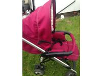 Baby weawer pushchair with car seat