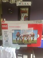 "Brand new led 32"" tv rca (built in DVD player)"