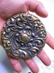 plaque en brass laiton massif 3 3/4 pouces projet ou autres