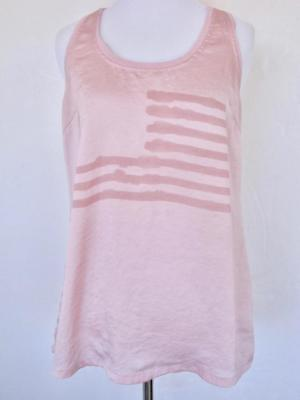 William Rast Ziel Amerikanische Flagge Pink Racerback Tank Top