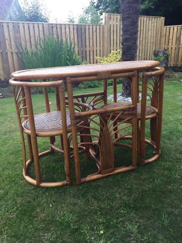 Cane Table and Chairsin Dalgety Bay, FifeGumtree - Cane table with 2 matching cane chairs. Cane is in very good condition slight wear on table top. Overall very good condition. Smoke and pet free home