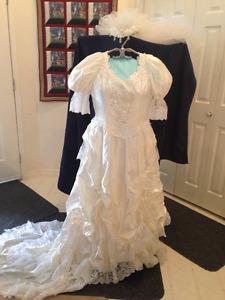 Wedding Dress and Headpiece