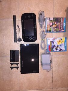 Console de jeux WiiU + 2 jeux
