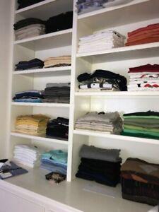 Men's clothing high end.