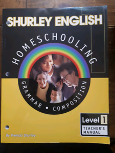 Shurley English Homsechooling Level 1 Teacher's Manual