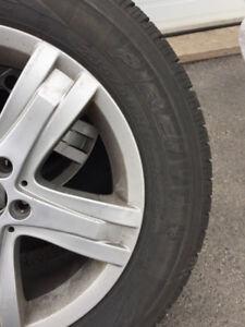 Mercedes GLK Pirelli winter tires on Mercedes Mags