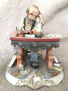 Capodimonte Man Writing Figurine