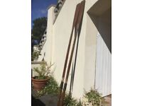 Wooden Oars 8 Foot