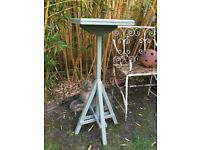 Bird table painted in Wild Thyme