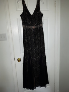 New Black Lace Prom / Evening / Mother of the bride Dress / Gown
