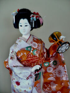 JAPANESE GEISHA DOLL - PURCHASED IN KYOTO