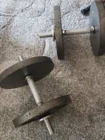 Weights Gold gym cast iron dumbell set