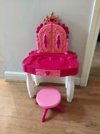 Girls princess dressing table and stool