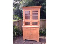 Antique Pine Welsh Dresser Vintage Kitchen Storage Cupboard Rustic