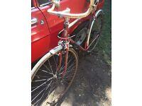 Sun retro racer race bike vintage