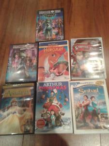 6 Films DVD animation Noel et Monster High pour enfants