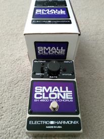 Electro Harmonix EHX Small Clone Chorus guitar pedal